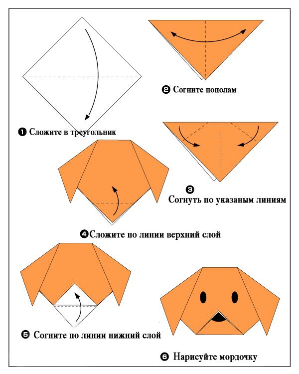 Оригами: собака